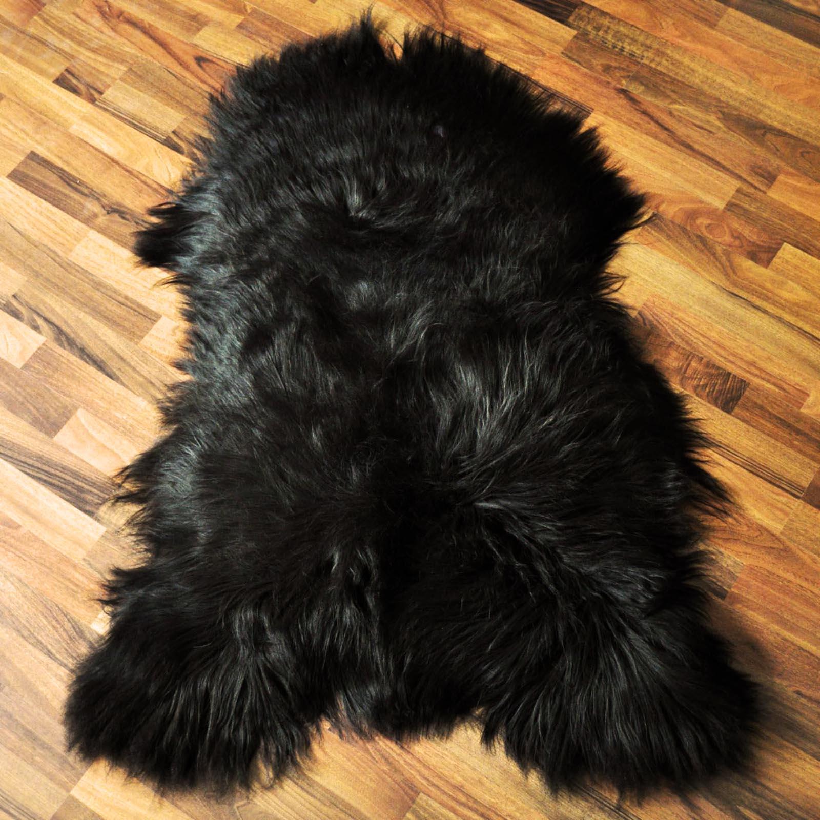 island schaffell lammfell ko fellteppich schwarz naturweiss oder dunkelbraun ebay. Black Bedroom Furniture Sets. Home Design Ideas